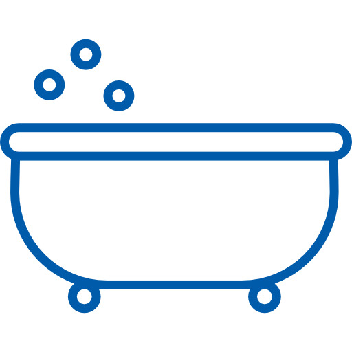 Dual size jetted tub